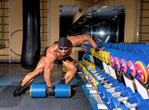 Handsome athletic man bodybuilder Royalty Free Stock Images