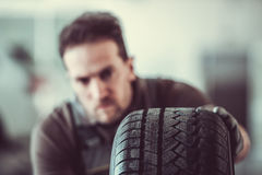 Handsome auto service worker Royalty Free Stock Photo