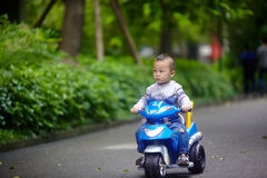 Handsome Baby Boy ridding Royalty Free Stock Images