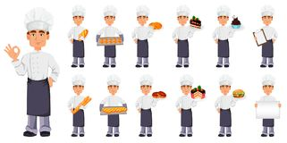 Free Handsome Baker In Professional Uniform Stock Images - 124287634
