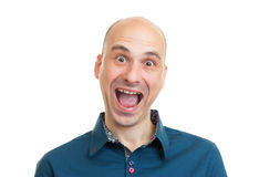 Handsome bald man Stock Photography