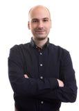 Handsome bald man portrait Stock Photography