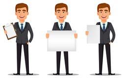 Handsome banker in business suit vector illustration