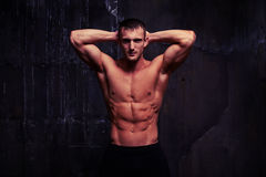 Handsome bare-chested man Royalty Free Stock Image