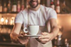 Handsome barista working Stock Photo