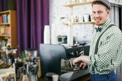 Handsome barista Royalty Free Stock Photo