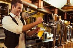 Handsome bartender working Stock Photos