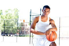 Handsome basketball player Royalty Free Stock Images