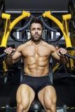 Handsome bearded bodybuilding man Stock Photos