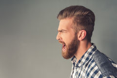 Handsome bearded man Royalty Free Stock Images