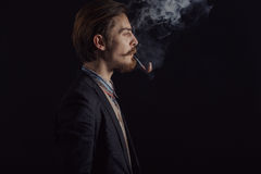 Handsome bearded stylish business man Royalty Free Stock Photo
