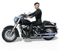 Handsome biker isolated Stock Images