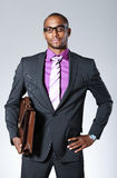 Handsome black businessman Royalty Free Stock Photo