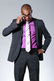 Handsome black businessman Royalty Free Stock Photography