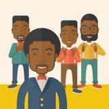 Handsome black businessmen Stock Photos