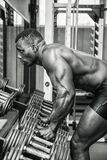 Handsome black male bodybuilder resting after Royalty Free Stock Photography