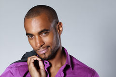 Handsome black man Stock Photo