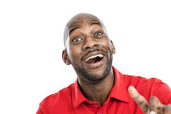 Handsome black man with expression Stock Photos