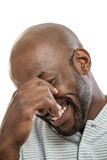 Handsome black man laughing Royalty Free Stock Images