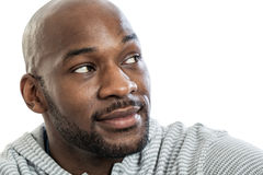 Handsome black man looking over shoulder Stock Image