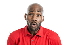 Handsome black man making expression Royalty Free Stock Image