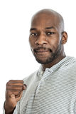 Handsome black man making a fist Royalty Free Stock Images