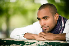 Handsome black man outdoors Royalty Free Stock Photography