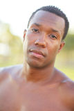 Handsome black man in the park Royalty Free Stock Images