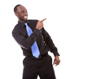 Handsome black man pointing Royalty Free Stock Photo