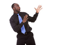 Handsome black man pointing Royalty Free Stock Photography