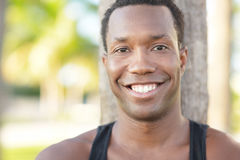 Handsome black man smiling Stock Image