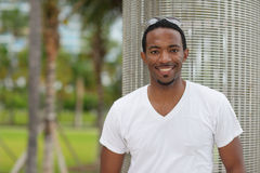 Handsome black man smiling Royalty Free Stock Photos