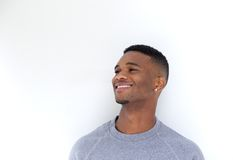 Handsome black man smiling Royalty Free Stock Photo