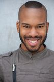Handsome black man smiling Royalty Free Stock Photo