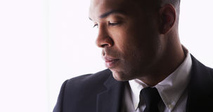 Handsome black man wearing a suit Stock Photography