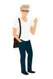 Handsome blond guy isolated vector illustration Stock Image