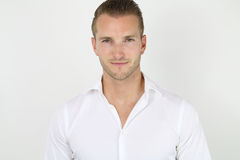Handsome blond guy Stock Photos