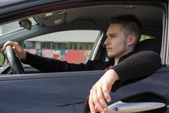Portrait Of Handsome Guy Driving His Car Stock Photo Image 33380144