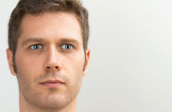 Handsome blue-eyed man portrait. Stock Photo