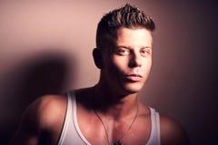 Handsome bodybuilder posing Stock Photos