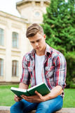 Handsome bookworm. Royalty Free Stock Photography