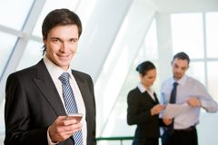 Handsome boss Royalty Free Stock Photo