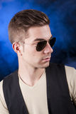 Handsome boy in aviator Stock Photography