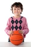 Handsome boy with basket ball Stock Photo