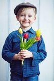 Handsome boy stock photos