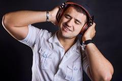 Handsome boy with headphones Stock Photos