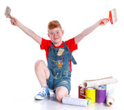Handsome boy painter Royalty Free Stock Image
