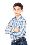 Handsome boy in shirt Royalty Free Stock Photo