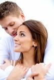 Handsome Boyfriend Hugging His Pretty Girlfriend stock photos