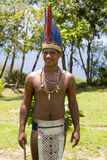 Handsome Brazilian indian man from tribe in Amazon, Brazil Royalty Free Stock Photos